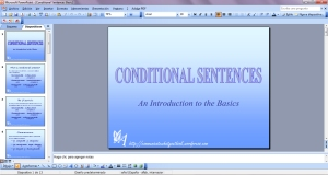 Power Point de la Introduction to the Basics of the Conditional Sentences